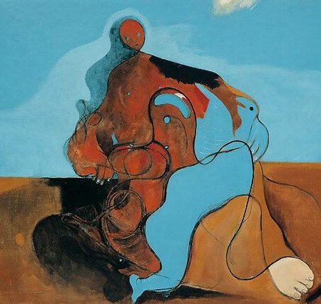 Max Ernst / The kiss (Detail) / 1927 / The Solomon R. Guggenheim Foundation, Peggy Guggenheim Collection, Venice / © 2019 Bildrecht