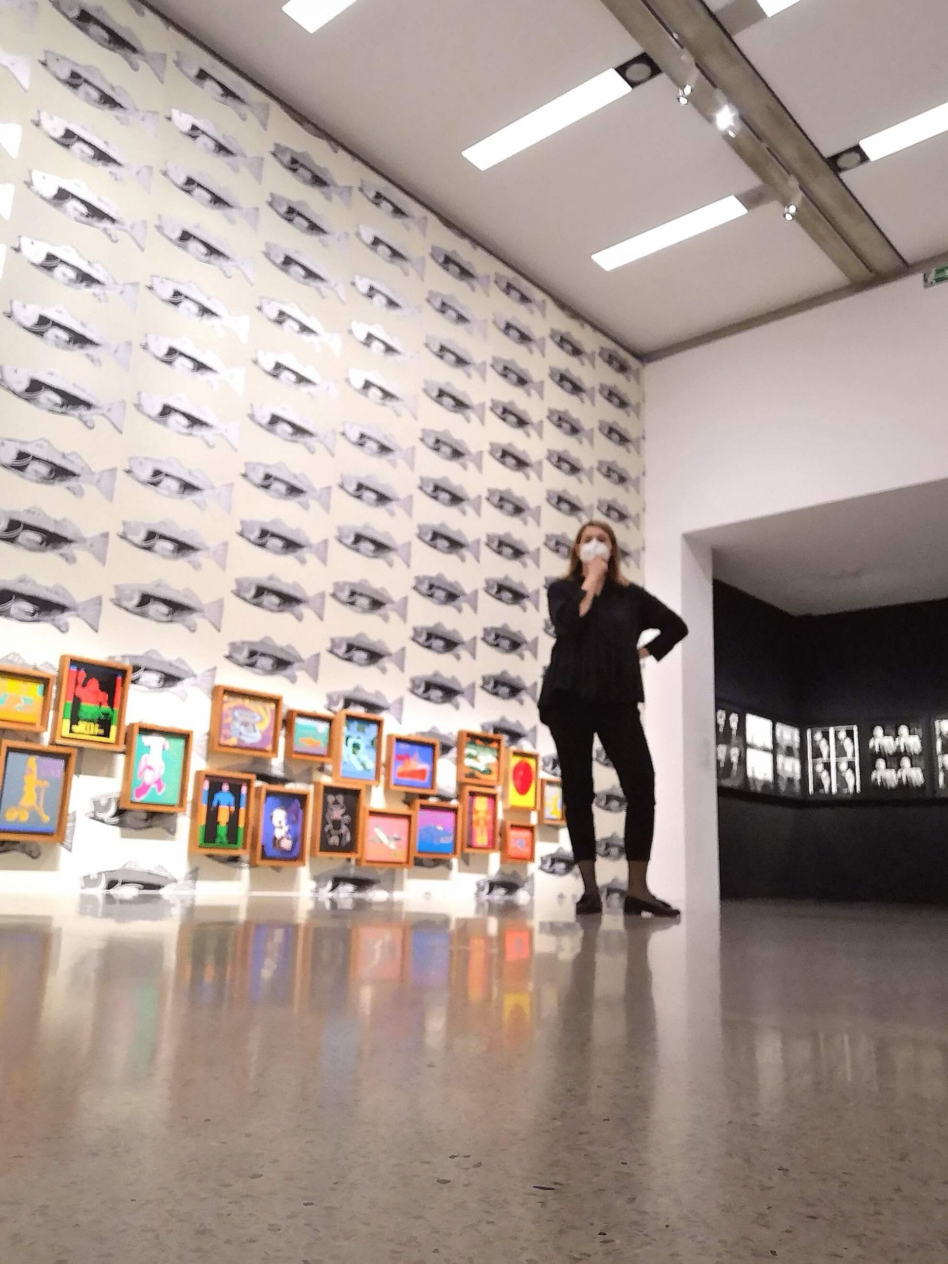 Andy Warhol, Ausstellungsansicht, Kinderbilder & Sewn Photographs, Mumok, Wien